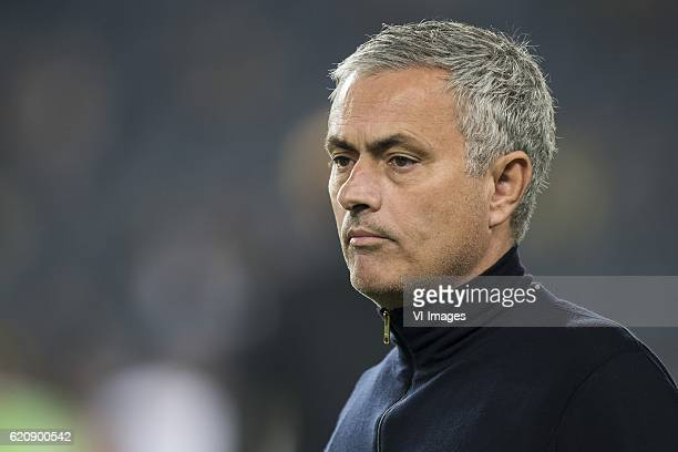 coach Jose Mourinho of Manchester United FCuring the UEFA Europa Leaguegroup A match between Fenerbahce and Manchester United on November 3 2016 at...