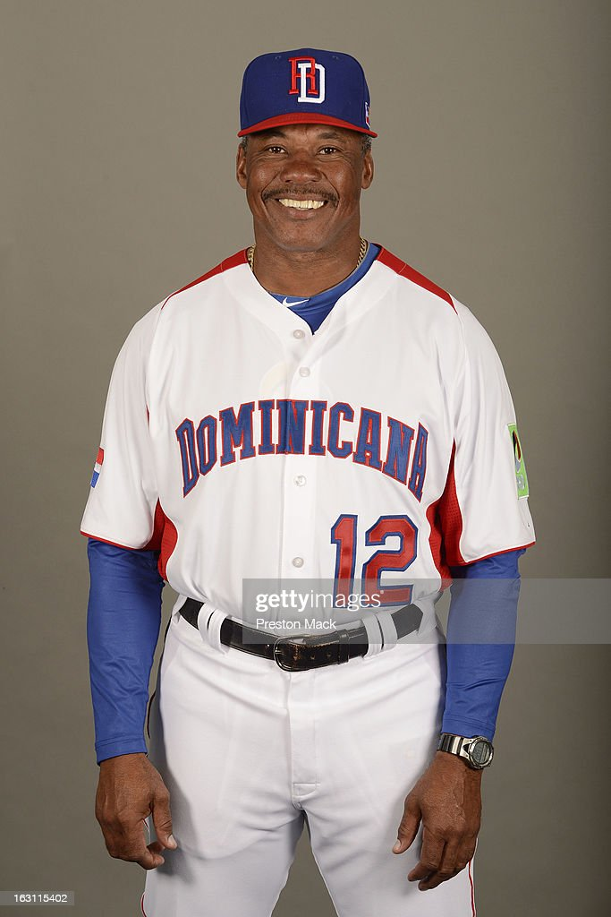 Coach Juan Samuel #12 of Team Dominican Republic poses for a headshot for the 2013 World Baseball Classic on March 4, 2013 at George M. Steinbrenner Field in Tampa, Florida.