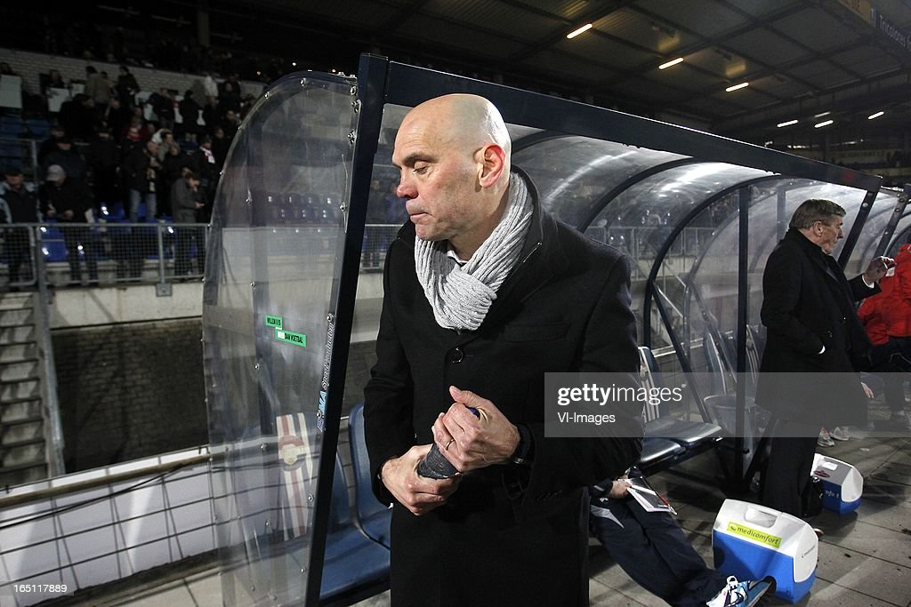 Coach Jurgen Streppel of Willem II during the Dutch Eredivisie match between Willem II and FC Groningen at the Koning Willem II Stadium on march 30, 2013 in Tilburg, The Netherlands