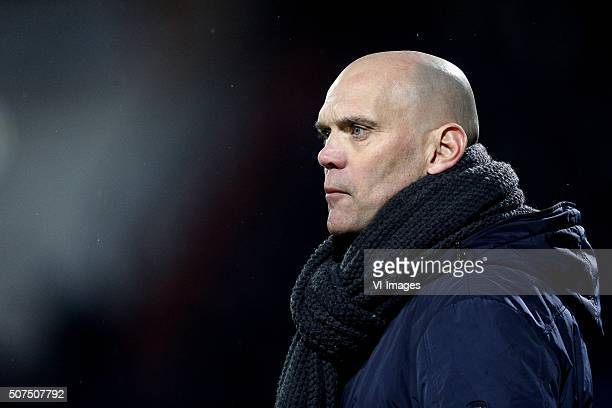 Coach Jurgen Streppel of Willem II during the Dutch Eredivisie match between Willem II Tilburg and Heracles Almelo at Koning Willem II stadium on...