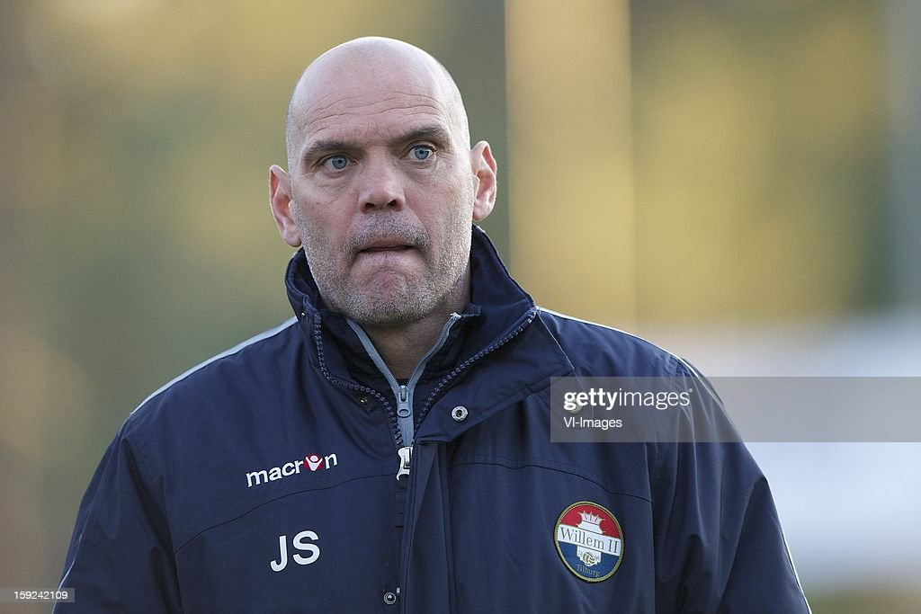 coach Jurgen Streppel of Willem II during the match between Willem II and Karabukspor on January 10, 2013 at Belek, Turkey.