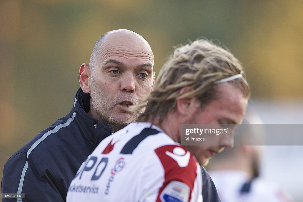 coach Jurgen Streppel of Willem II, Niek Vossebelt of Willem II during the match between Willem II and Karabukspor on January 10, 2013 at Belek, Turkey.