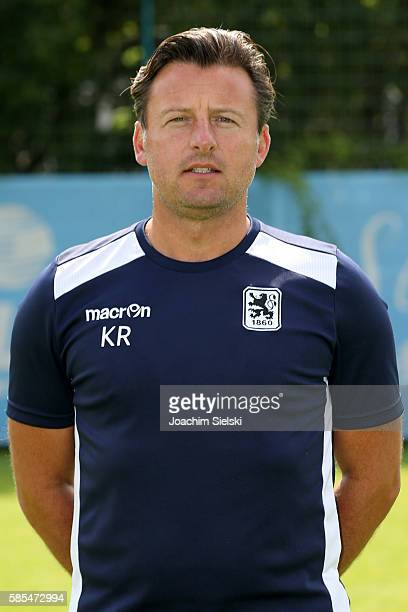 Coach Kosta Runjaic poses during the official team presentation of TSV 1860 Muenchen at Trainingsgelaende on July 22 2016 in Munich Germany