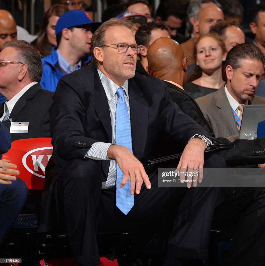 Coach Kurt Rambis of the New York Knicks looks on against the Charlotte Hornets at Madison Square Garden on November 17 2015 in New YorkNew York NOTE...