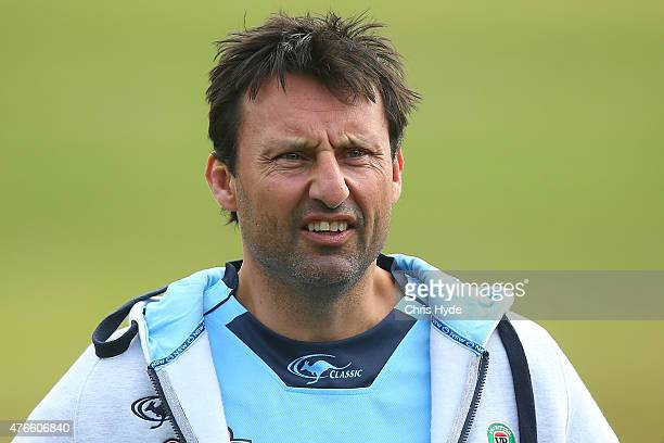 Coach Laurie Daley looks on during the New South Wales Blues State of Origin team training session at the Novotel on June 11 2015 in Coffs Harbour...