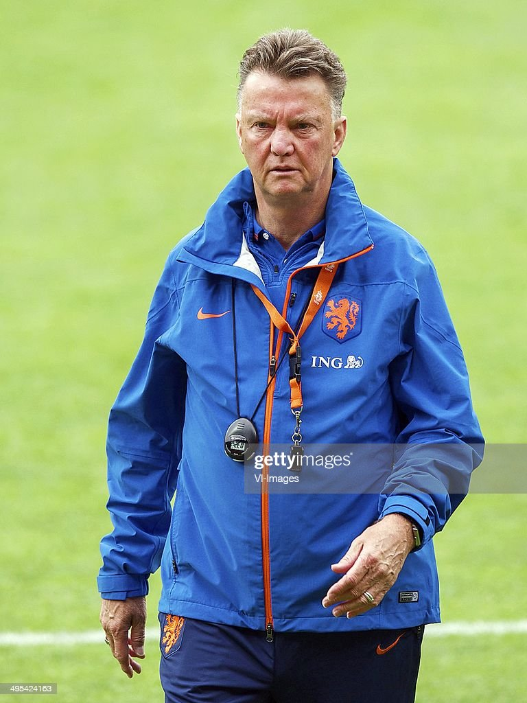 coach Louis van Gaal of Holland during a training session of the Netherlands on June 3, 2014 in Alkmaar, The Netherlands.