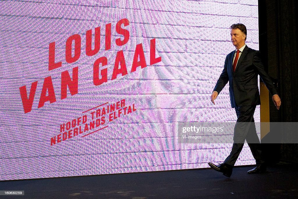 coach Louis van Gaal of Holland during the presentation of the new Netherlands National team kit on February 4, 2013 at Amsterdam, Netherlands.