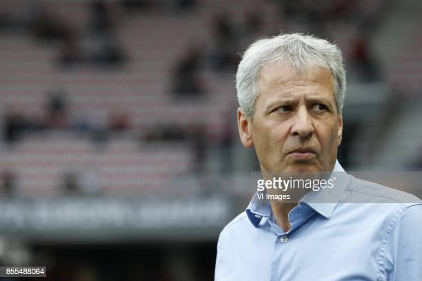 coach Lucien Favre of OCG Nice during the UEFA Europa League group K match match between OGC Nice and Vitesse Arnhem on September 28 2017 at the...