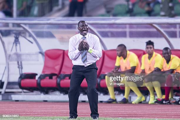 coach M Antonio Do Rosario of Sao Tome e Principe during the Africa Cup of Nations match between Morocco and Sao Tome E Principe at September 4 2016...