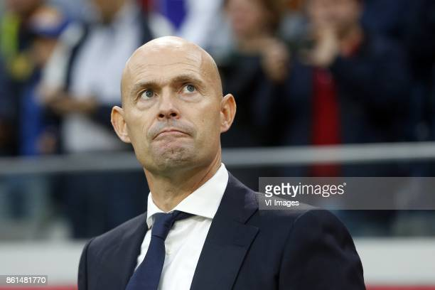 Coach Marcel Keizer of Ajax during the Dutch Eredivisie match between Ajax Amsterdam and Sparta Rotterdam at the Amsterdam Arena on October 14 2017...