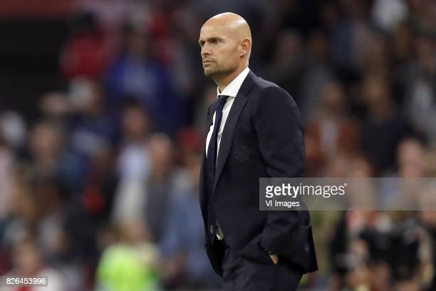 coach Marcel Keizer of Ajax during the UEFA Champions League third round qualifying first leg match between Ajax Amsterdam and OGC Nice at the...