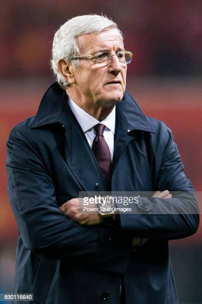 Coach Marcello Lippi of China PR looks on during their 2018 FIFA World Cup Russia Final Qualification Round Group A match between China PR and Korea...