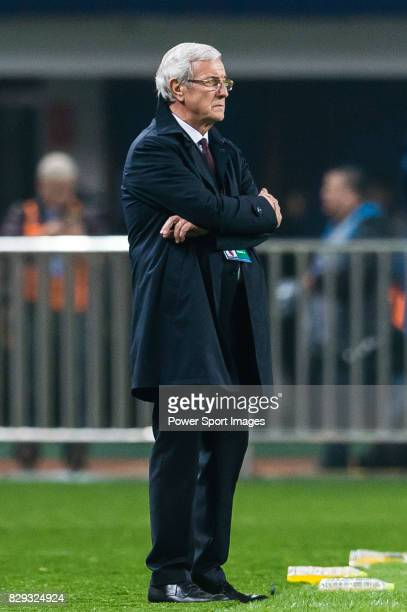 Coach Marcello Lippi of China PR reacts during their 2018 FIFA World Cup Russia Final Qualification Round Group A match between China PR and Korea...