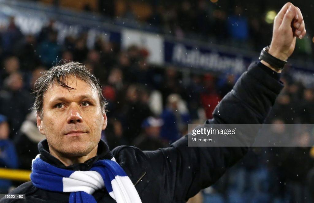 coach Marco van Basten during the Dutch Eredivisie match between SC Heerenveen and PSV Eindhoven at the Abe Lenstra Stadium on march 09, 2013 in Heerenveen, The Netherlands