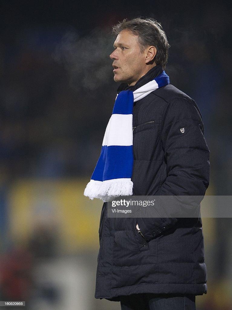 coach Marco van Basten of Heerenveen during the Dutch Eredivisie match between RKC Waalwijk and SC Heerenveen at the Mandemakers Stadium on february 1, 2013 in Waalwijk, The Netherlands