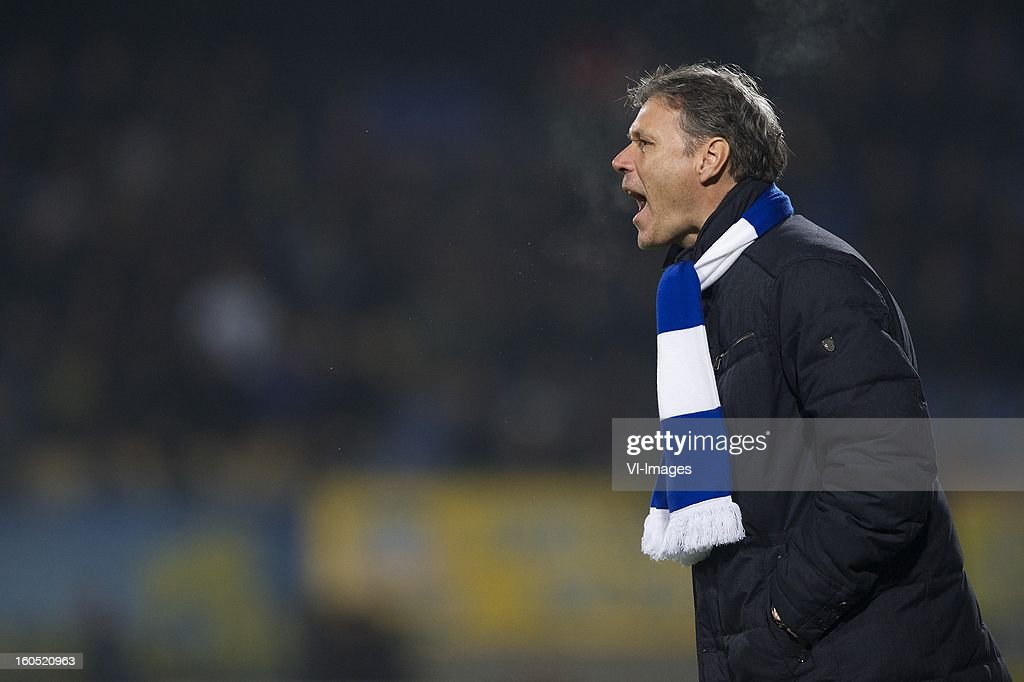 coach Marco van Basten of Heerenveen during the Dutch Eredivisie match between RKC Waalwijk and SC Heerenveen at the Mandemakers Stadium on february 1, 2013 in Waalwijk, The Netherlands