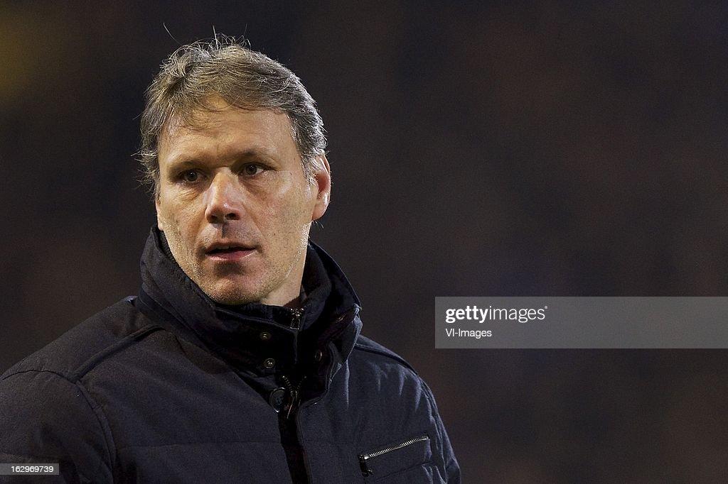 coach Marco van Basten of Heerenveen during the Dutch Eredivisie match between NAC Breda and SC Heerenveen at the Rat Verlegh STadium on march 02, 2013 in Breda, The Netherlands