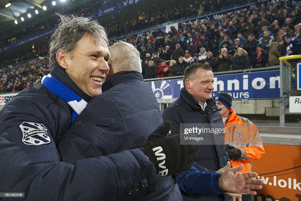 coach Marco van Basten of SC Heerenveen during the Dutch Eredivisie Match between SC Heerenveen and FC Twente at the Abe Lenstra Stadium on february 23, 2013 in Heerenveen, The Netherlands