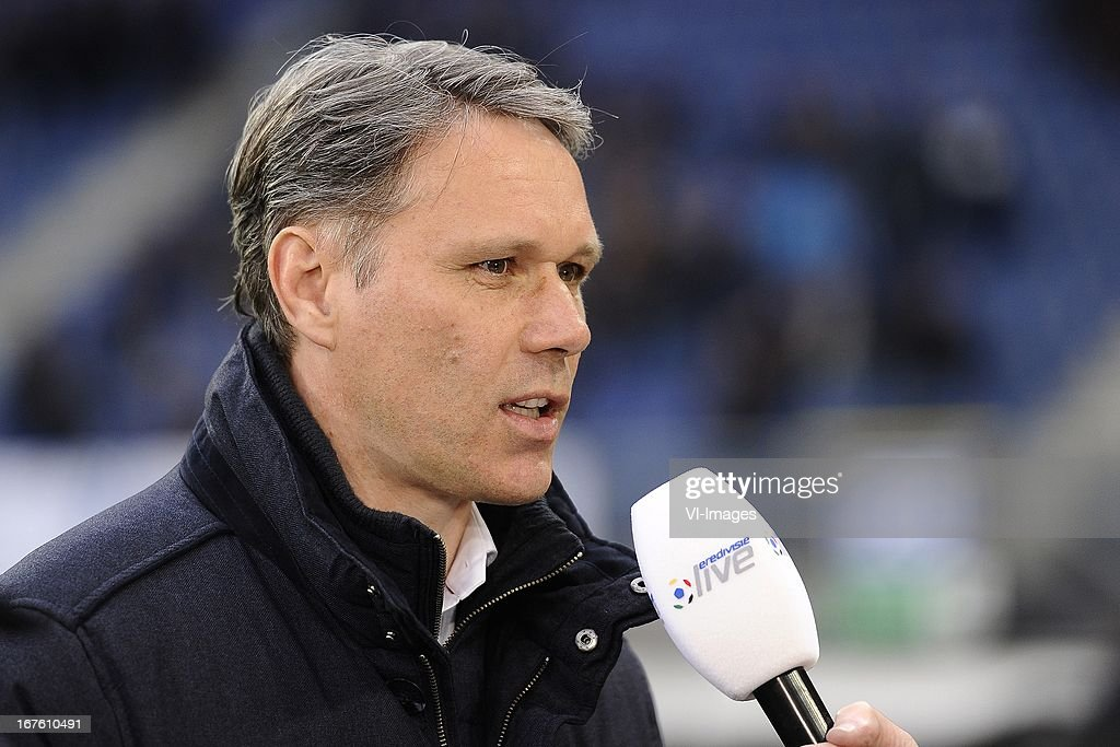 Coach Marco van Basten of sc Heerenveen, during the Dutch Eredivisie match between sc Heerenveen and AZ Alkmaar on April 26, 2013 at the Abe Lenstra stadium in Heerenveen, The Netherlands.