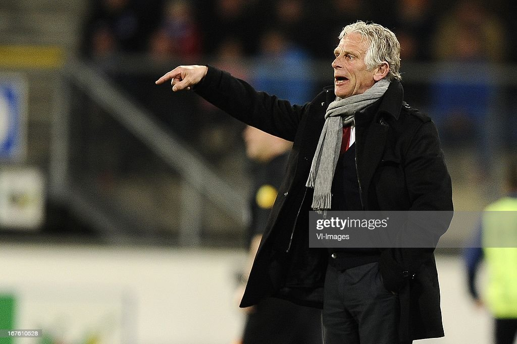 Coach Martin Haar of AZ, during the Dutch Eredivisie match between sc Heerenveen and AZ Alkmaar on April 26, 2013 at the Abe Lenstra stadium in Heerenveen, The Netherlands.