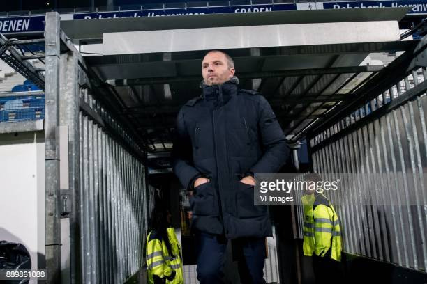 coach Maurice Steijn of VVV during the Dutch Eredivisie match between sc Heerenveen and VVV Venlo at Abe Lenstra Stadium on December 09 2017 in...