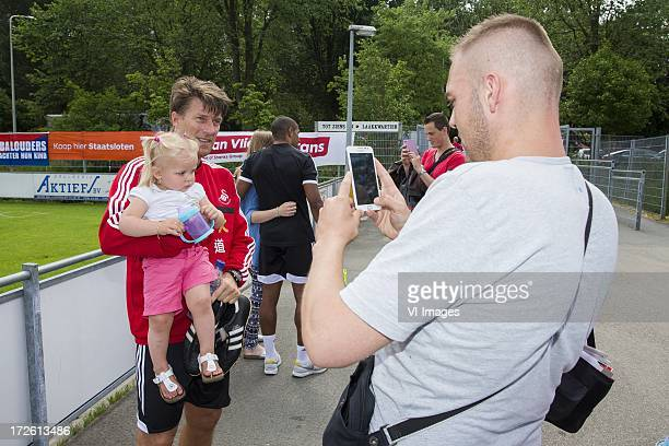 Coach Michael Laudrup of Swansea City during a training session of Swansea City on July 4 2013 at Sportcomplex Jan van Beerstraat in The Hague...