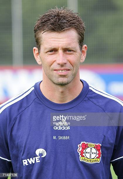 Coach Michael Skibbe of Leverkusen poses during the First Bundesliga Team Presentation of Bayer 04 Leverkusen at the Training Ground on July 10 2006...