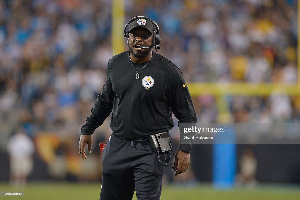 Coach Mike Tomlin of the Pittsburgh Steelers during their game against the Carolina Panthers at Bank of America Stadium on September 21, 2014 in Charlotte, North Carolina. The Steelers won 37-19.