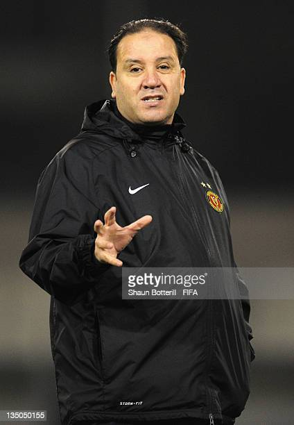 Coach Nabil Maaloul during an Esperance Sportive de Tunis training session at Wave Stadium on December 6 2011 in Kariya Japan