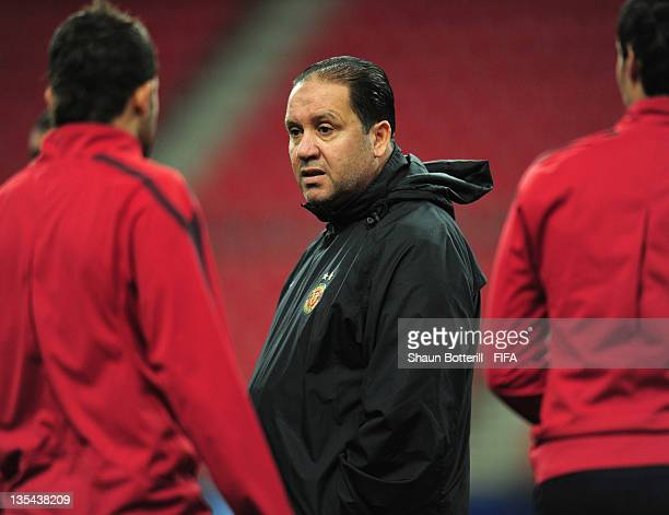 Coach Nabil Maaloul during the Esperance Sportive de Tunis training session at Toyota Stadium on December 10 2011 in Toyota Japan