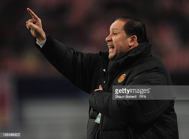 Coach Nabil Maaloul of Esperance Sportive De Tunis during the FIFA Club World Cup Quarter Final match between Esperance Sportive De Tunis and AlSadd...