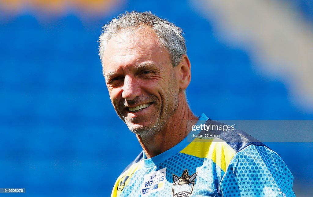 Coach Neil Henry during a Gold Coast Suns NRL training session at CBus Super Stadium on March 1, 2017 in Gold Coast, Australia.