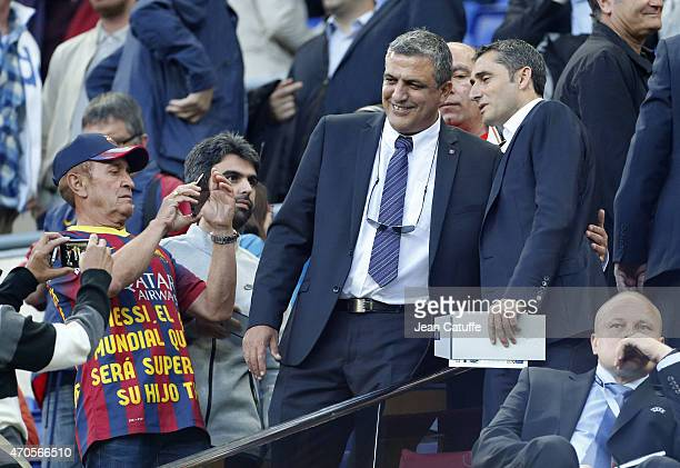 Coach of Athletic Club Bilbao Ernesto Valverde poses for a picture before the UEFA Champions League quarter final second leg match between FC...
