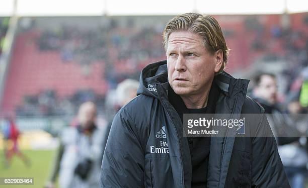 Coach of Hamburg Markus Gisdol before the Bundesliga match between FC Ingolstadt 04 and Hamburger SV at Audi Sportpark on January 28 2017 in...