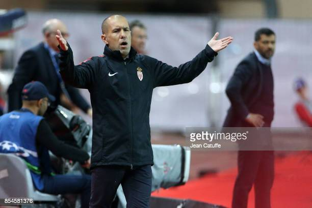 Coach of Monaco Leonardo Jardim coach of FC Porto Sergio Conceicao during the UEFA Champions League group G match between AS Monaco and FC Porto at...