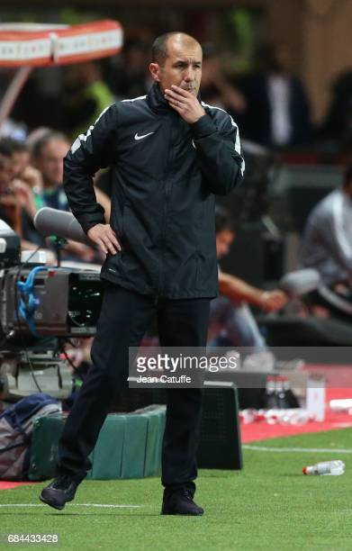 Coach of Monaco Leonardo Jardim during the French Ligue 1 match between AS Monaco and AS SaintEtienne at Stade Louis II on May 17 2017 in Monaco...
