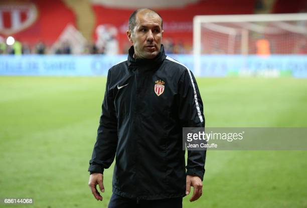 Coach of Monaco Leonardo Jardim looks on following the French Ligue 1 match between AS Monaco and AS SaintEtienne at Stade Louis II on May 17 2017 in...