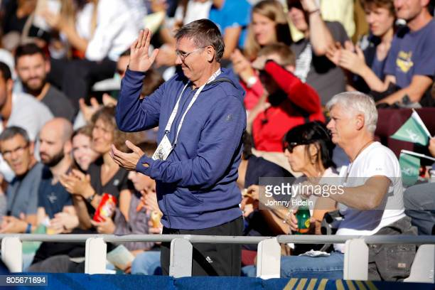 Coach of Naoto Tobe of Japan High Jump during the Meeting de Paris of the IAAF Diamond League 2017 on July 1 2017 in Paris France