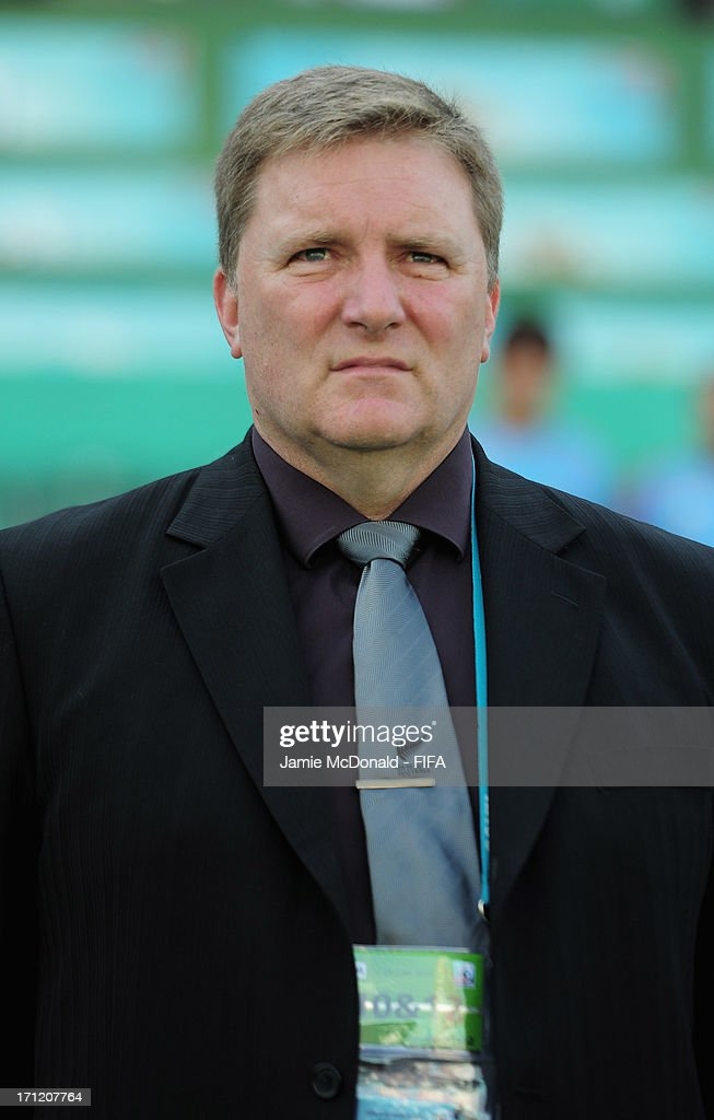 Coach of New Zealand Chris Milicich looks on during the FIFA U-20 World Cup Group F match between New Zealand and Uzbekistan at the Ataturk Stadium on June 23, 2013 in Bursa, Turkey.