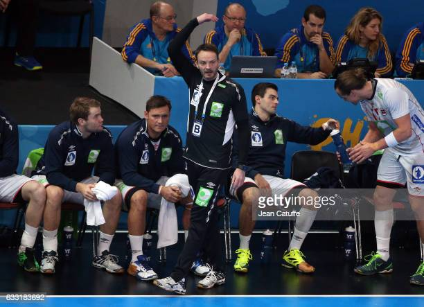Coach of Norway Christian Berge reacts during the 25th IHF Men's World Championship 2017 Final between France and Norway at Accorhotels Arena on...