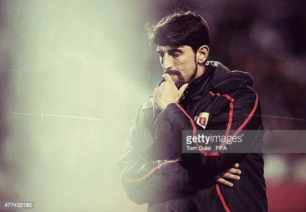 Coach of Serbia Veljko Paunovic during the FIFA U20 World Cup New Zealand 2015 Semi Final match between Serbia and Mali held at North Harbour Stadium...
