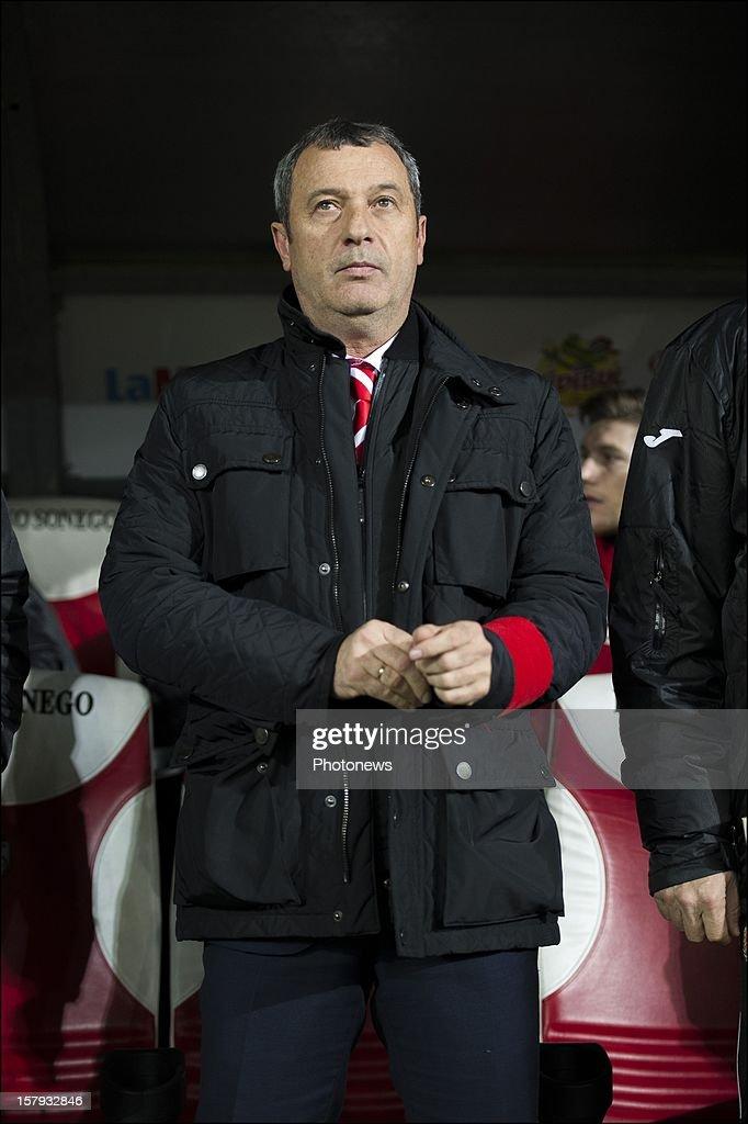coach of Standard de Liege Mircea Rednic pictured during the Jupiler League match between Standard de Liege and Sporting Charleroi on December 7, 2012 in Liege, Belgium.