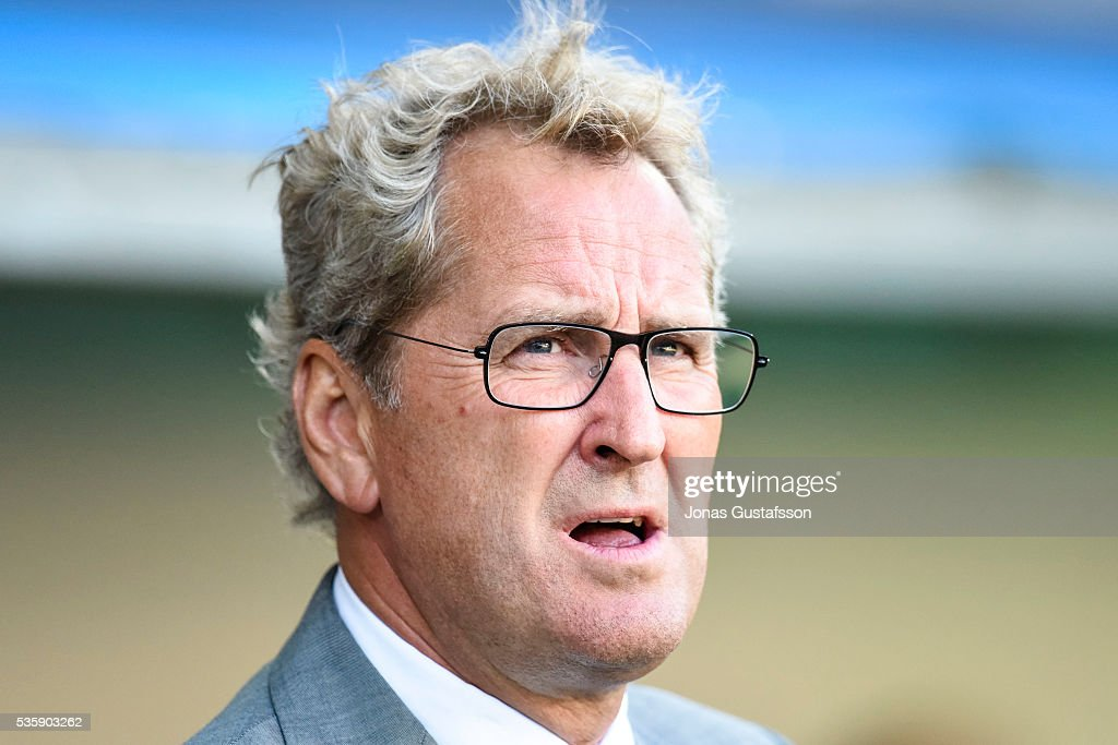 Coach of Sweden Erik Hamren during the international friendly match between Sweden and Slovenia May 30, 2016 in Malmo, Sweden.