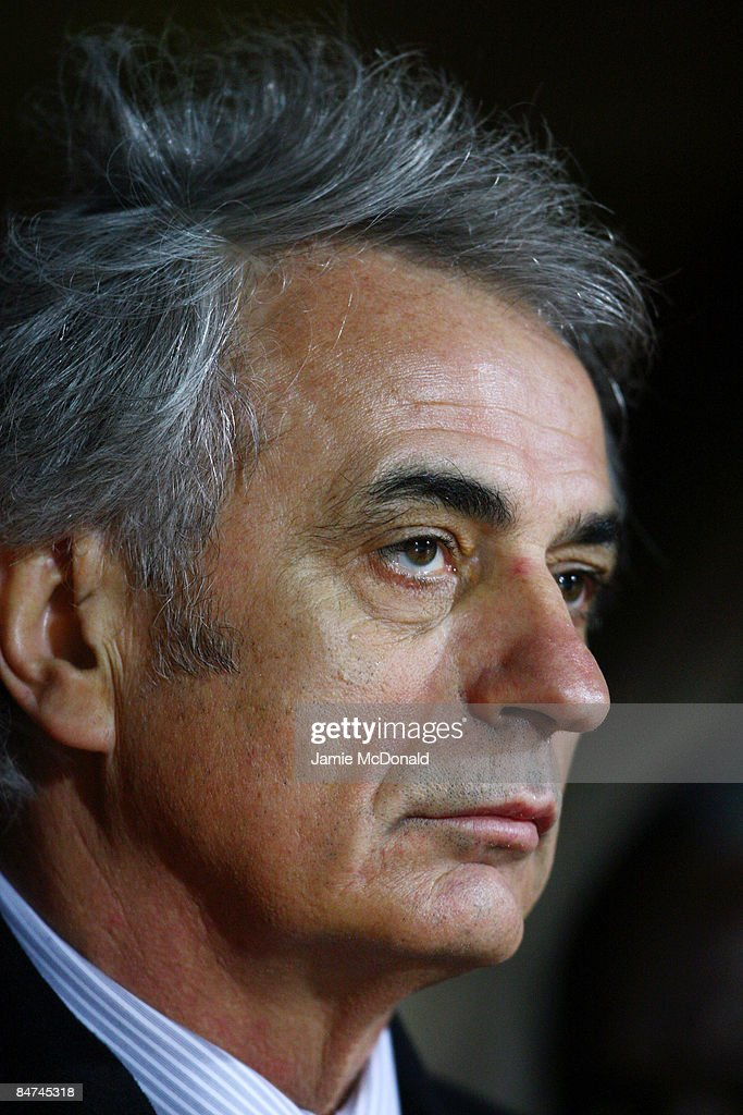 Coach of the Ivory Coast <a gi-track='captionPersonalityLinkClicked' href=/galleries/search?phrase=Vahid+Halilhodzic&family=editorial&specificpeople=777212 ng-click='$event.stopPropagation()'>Vahid Halilhodzic</a> looks on during the International Friendly match between Turkey and Ivory Coast at the Izmir Ataturk Stadium on February 11, 2009 in Izmir, Turkey.