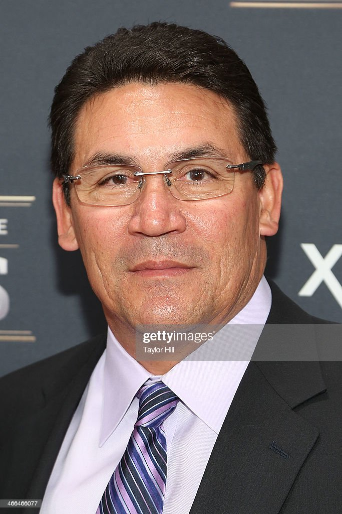Coach of the Year recipient Carolina Panthers coach Ron Rivera attends the 3rd Annual NFL Honors at Radio City Music Hall on February 1 2014 in New...