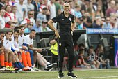 coach Pako Ayestaran of Valencia CF during the preseason friendly match between Feyenoord and Valencia on July 23 2016 at the Kuip in Rotterdam The...