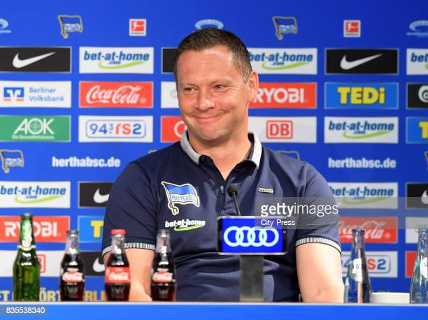coach Pal Dardai of Hertha BSC after the game between Hertha BSC and dem VfB Stuttgart on august 19 2017 in Berlin Germany