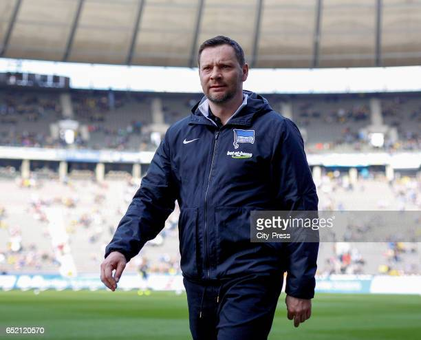 coach Pal Dardai of Hertha BSC before the Bundesliga match between Hertha BSC and Borussia Dortmund at the Olympiastadion on march 11 2017 in Berlin...