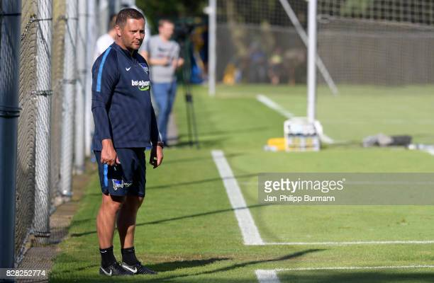 coach Pal Dardai of Hertha BSC during a training session on August 9 2017 in Berlin Germany