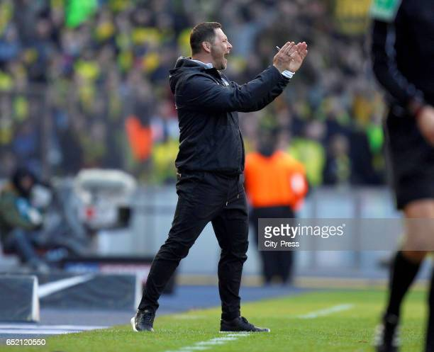 coach Pal Dardai of Hertha BSC during the Bundesliga match between Hertha BSC and Borussia Dortmund at the Olympiastadion on march 11 2017 in Berlin...